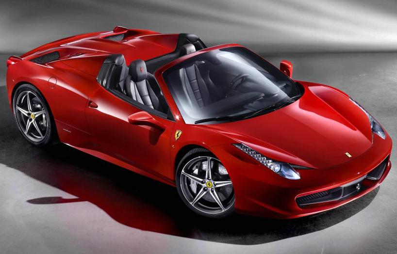 Ferrari 458 spider convertible