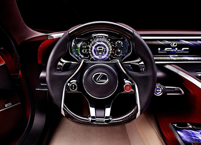 Новый спорткар от Lexus - LF-LC салон