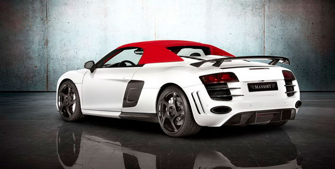 Audi R8 V10 Spyder от Mansory вид сбоку